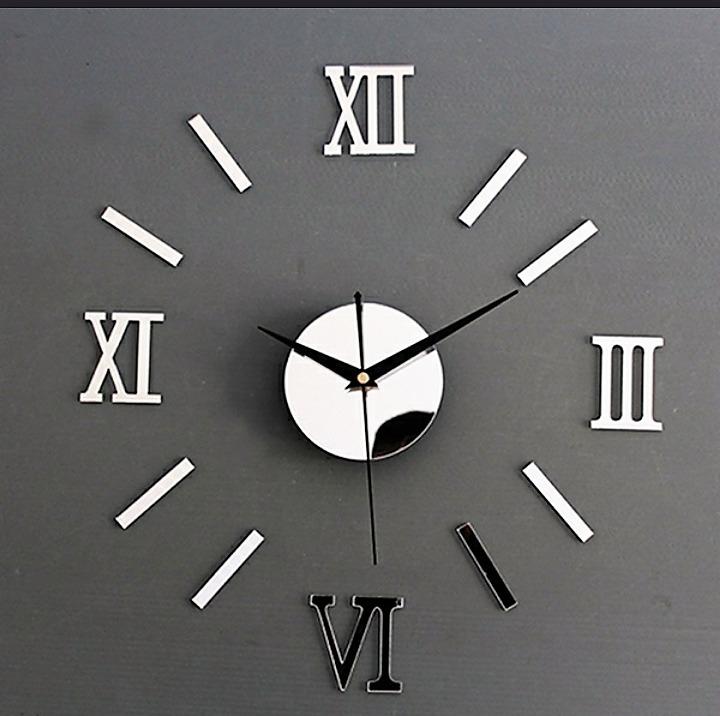 f3996433a14 Relógio Parede Decorativo 3d Acrílico Colante + Pilha - R  45