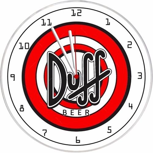 relógio  parede decorativo barato promoção oferta duff beer