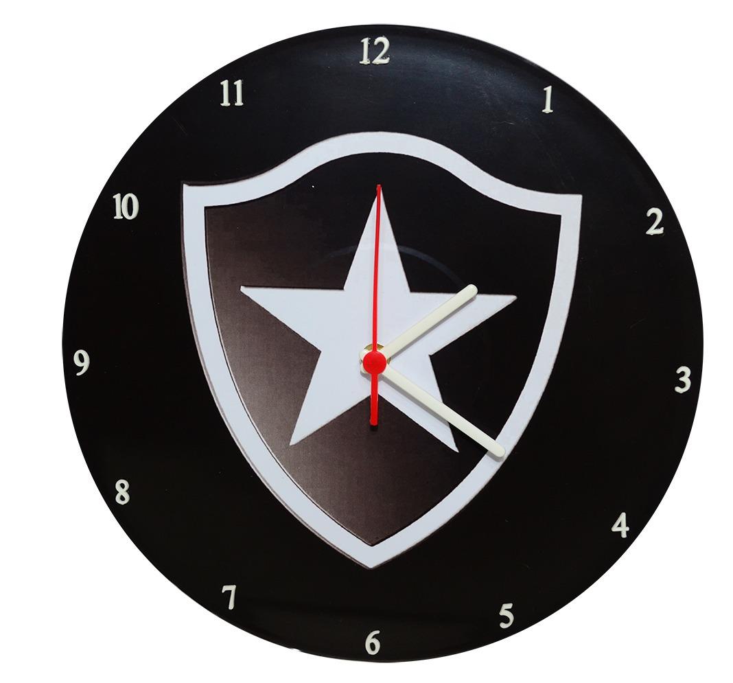 cda099ed1c5ab Relógio Parede Disco Vinil Decorativo Time Futebol Botafogo - R  45 ...
