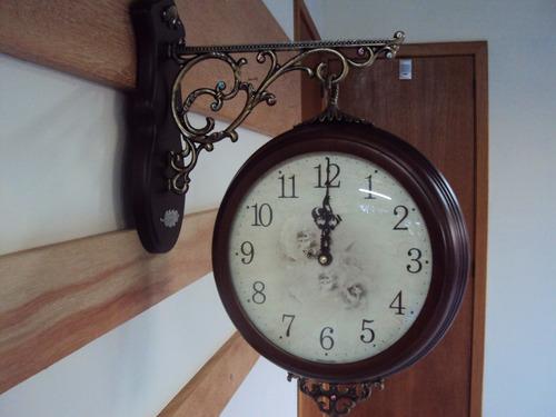 relógio parede dupla face sx estação ferroviária 3 anos gara