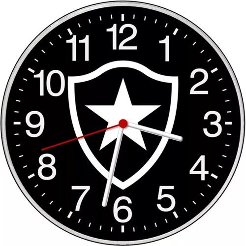relógio parede escudo botafogo rj decorativo brasão barato