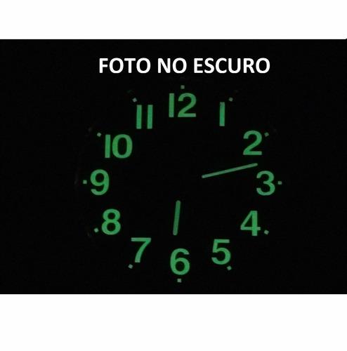 relógio parede fluorescente  ms quartz 22,5 cm