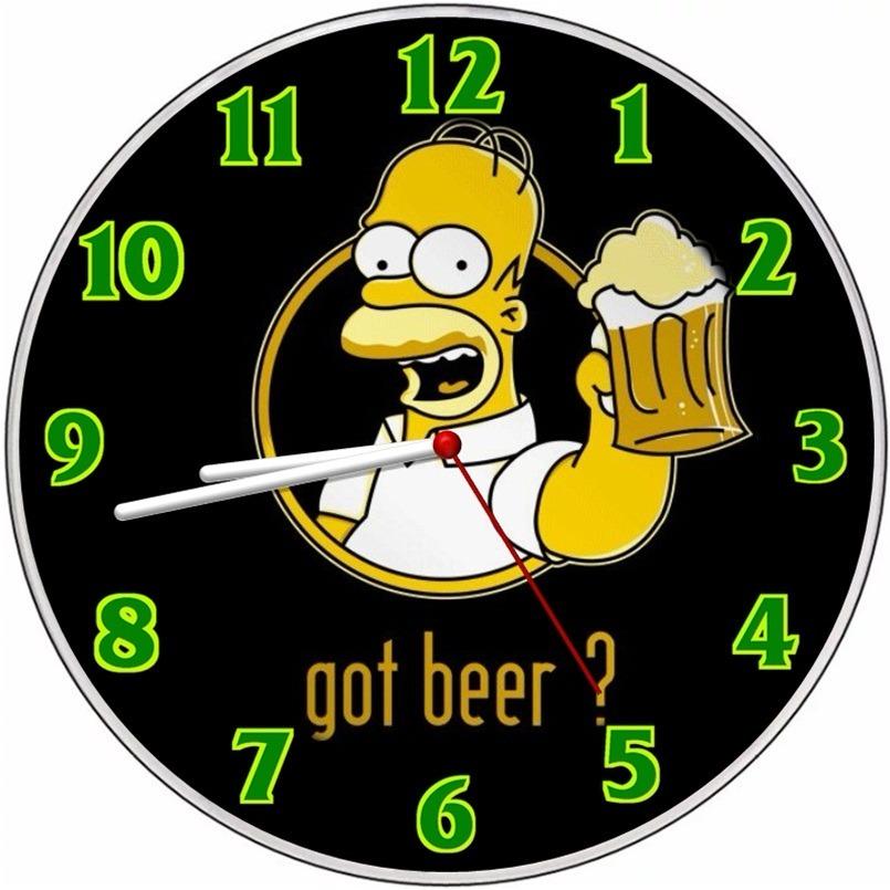 daf28bb2514 Relógio parede homer simpson duff cozinha retrô desenho jpg 805x805 Relogio  em desenho