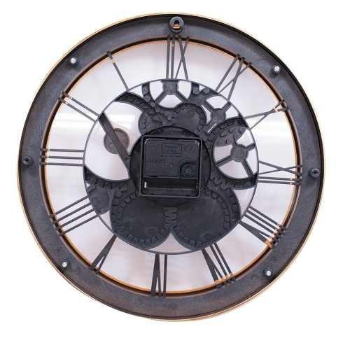 09977de5402 Relógio Parede Mecânica Bronze 30x30cm
