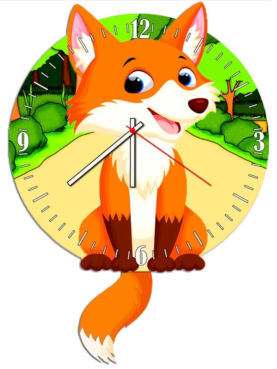 b24bad11e05 Relogio Parede - Pendulo Decorativo - Raposa - R  40