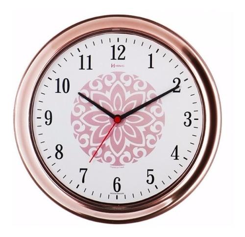 relógio parede rosê 30cm tictac cozinha herweg 660013