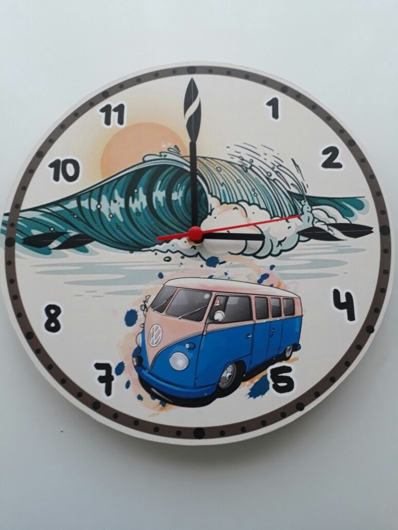 143a5923f4b relógio parede surf kombi. Carregando zoom.