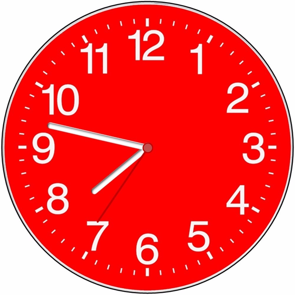 Relógio Parede Vermelho Decorativo Sala Cozinha Retro