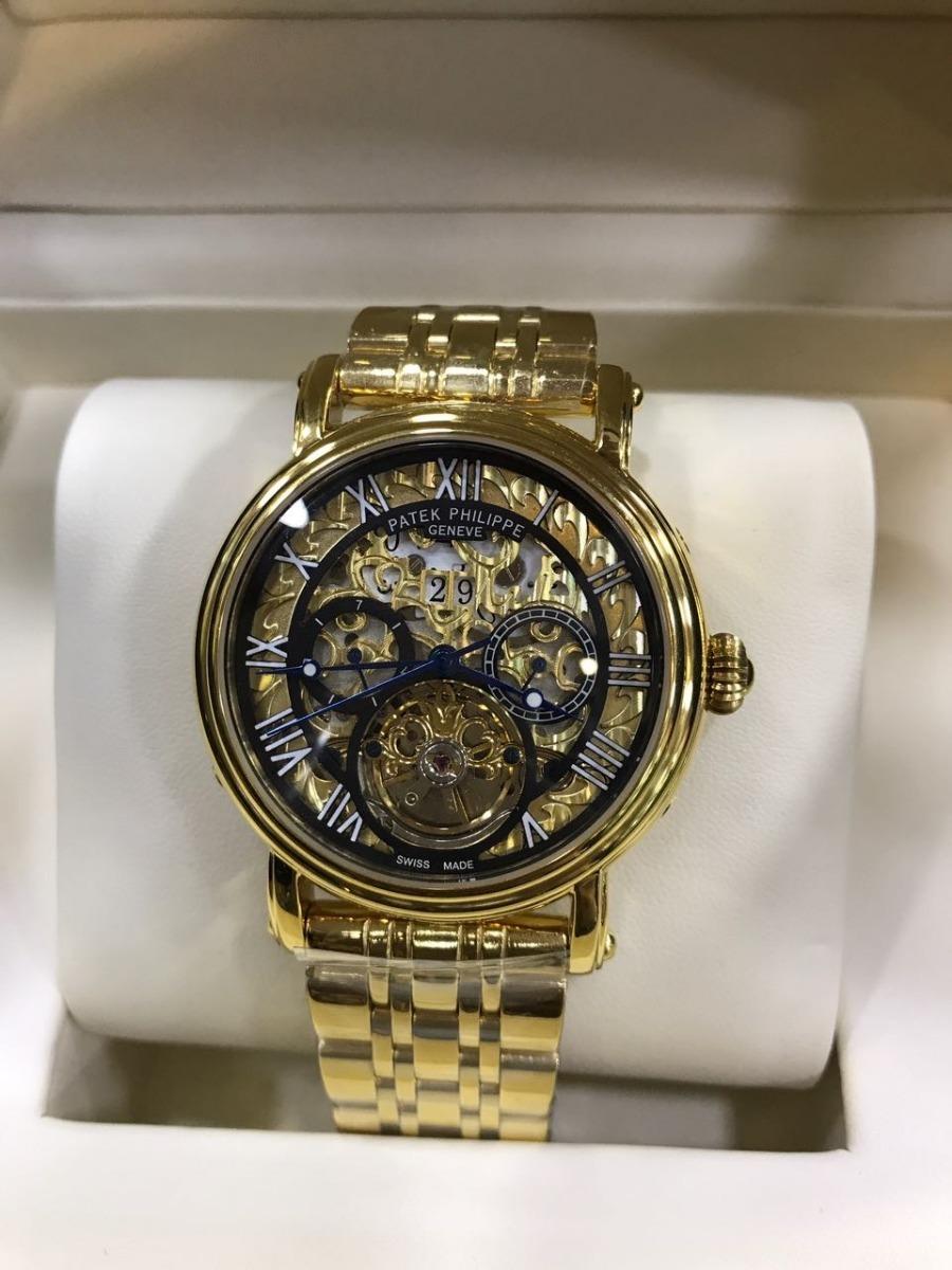506db335719 Relógio Patek Philippe Esqueleto - R  599
