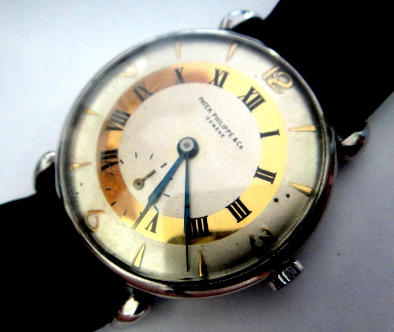 593ed7c3bf8 Relógio Patek Philippe Calatrava De Aço Vintage - R  32.000