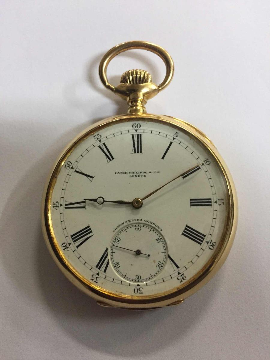 7890e1b2615 relógio patek philippe de bolso 22 linhas de ouro 18k   750. Carregando zoom .