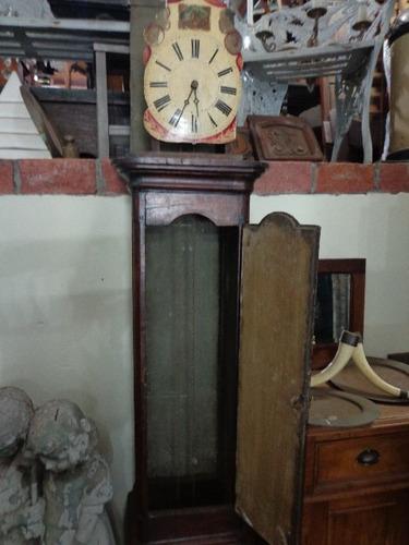 relógio pedestal em madeira nobre. raridade