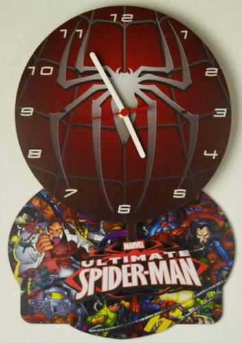 relogio pendulo homem aranha spider man