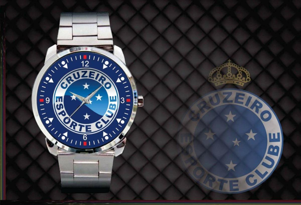 91b81a0fd06 Relógio Personalizado Futebol Cruzeiro Esporte Clube F.azul - R  84 ...