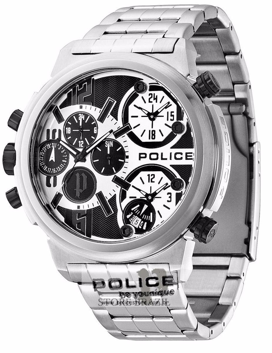 e8d1f3c5b7e Relógio Police Multi-função Tri-time Python Pl13595js 04m - R  1.599 ...