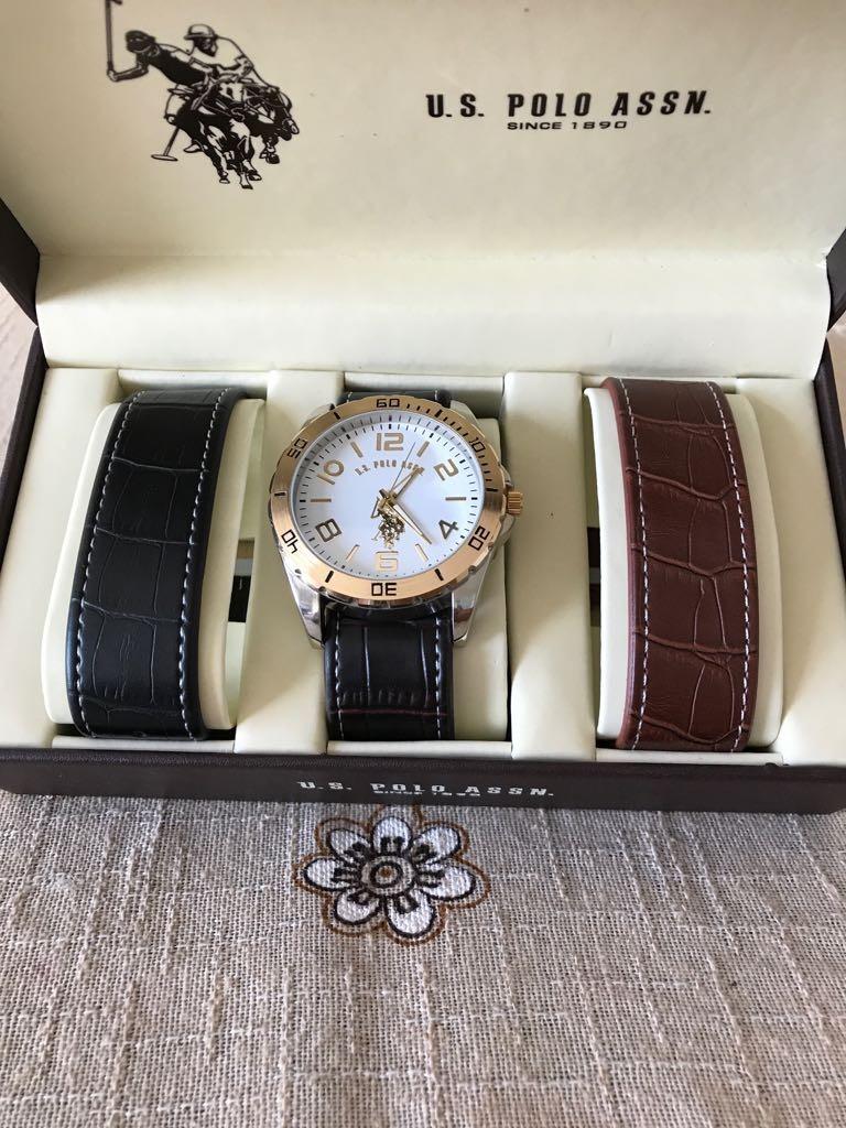 6241394d408 relógio polo assn importado original + 2 pulseiras e caixa. Carregando zoom.