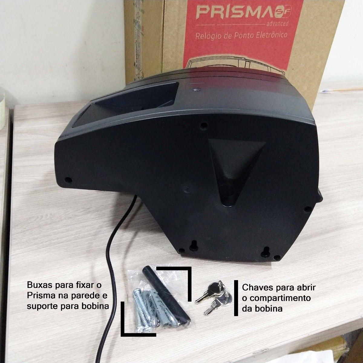 18d8c38394a Relógio Ponto Eletrônico Henry Rep Prisma Advanced R2 Biomet - R ...