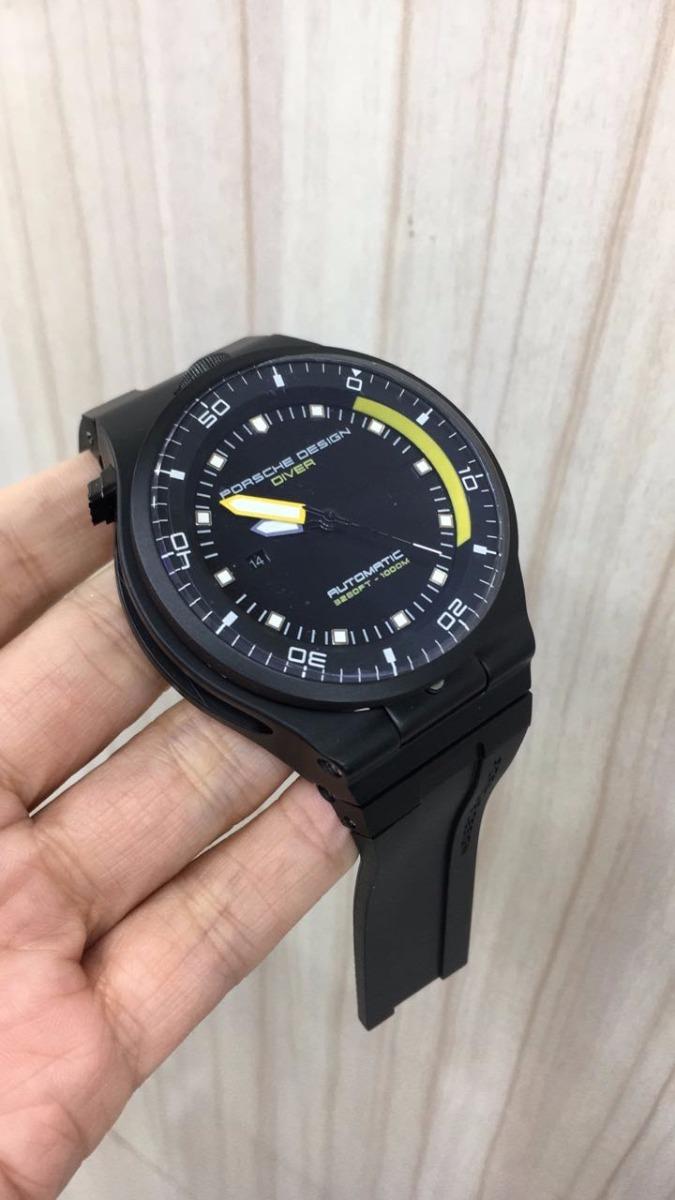 680f439e429 relógio porsche design diver automático preto e amarelo. Carregando zoom.