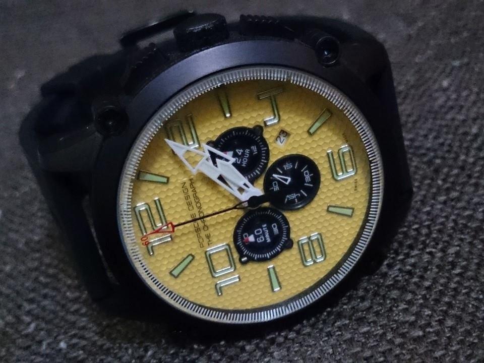 556b25a81df relógio porsche design visor amarelo top raro no ml. Carregando zoom.