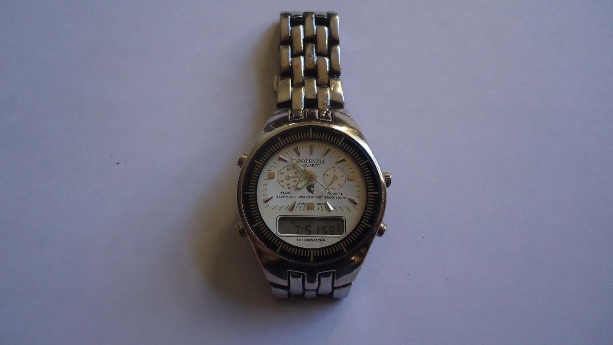 9d865dd5ebc Relógio Potenzia Analogo digital Quartz Masculino - R  89