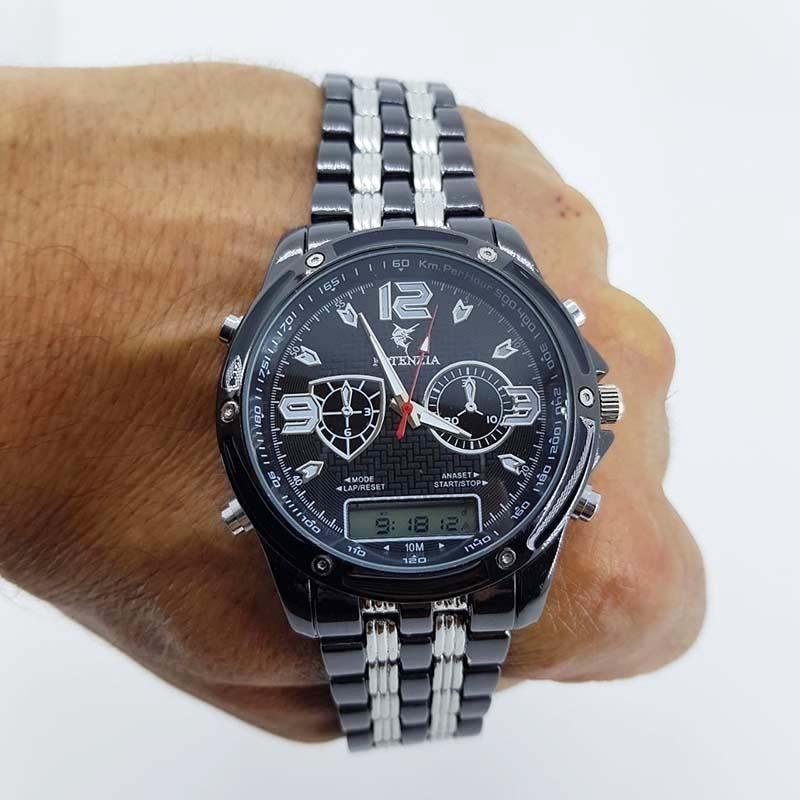 b043f400808 relógio potenzia masculino digital analogico preto leilão. Carregando zoom.
