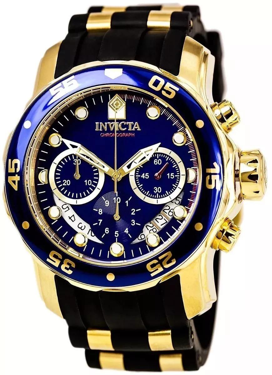 6c13f5c3793 relógio pp984 invicta pro diver 6983 - ouro 18k original. Carregando zoom.