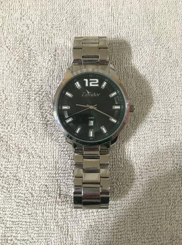 relógio prata masculino condor