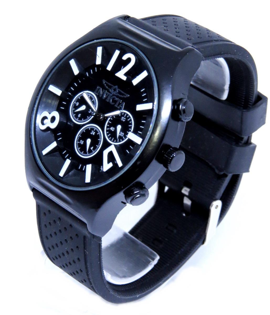 b53d34b2088 relógio preto - branco grande reserve na caixa top barato. Carregando zoom.