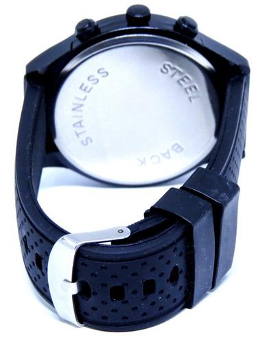 relógio preto - branco grande reserve na caixa top barato