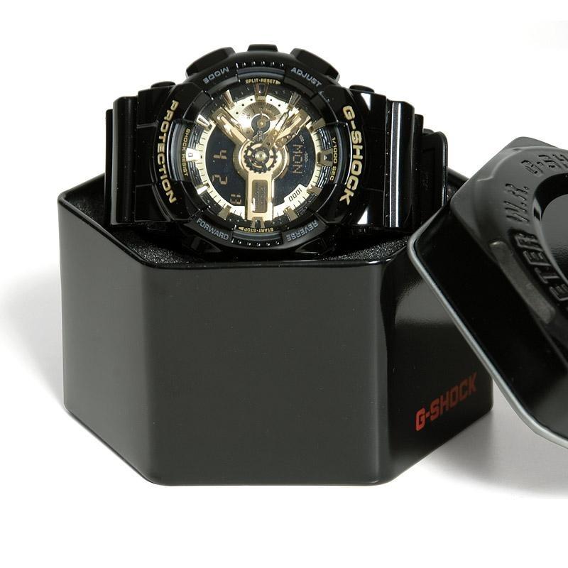 5621424009d relógio preto com dourado casio g-shock ga-110gb gold. Carregando zoom.