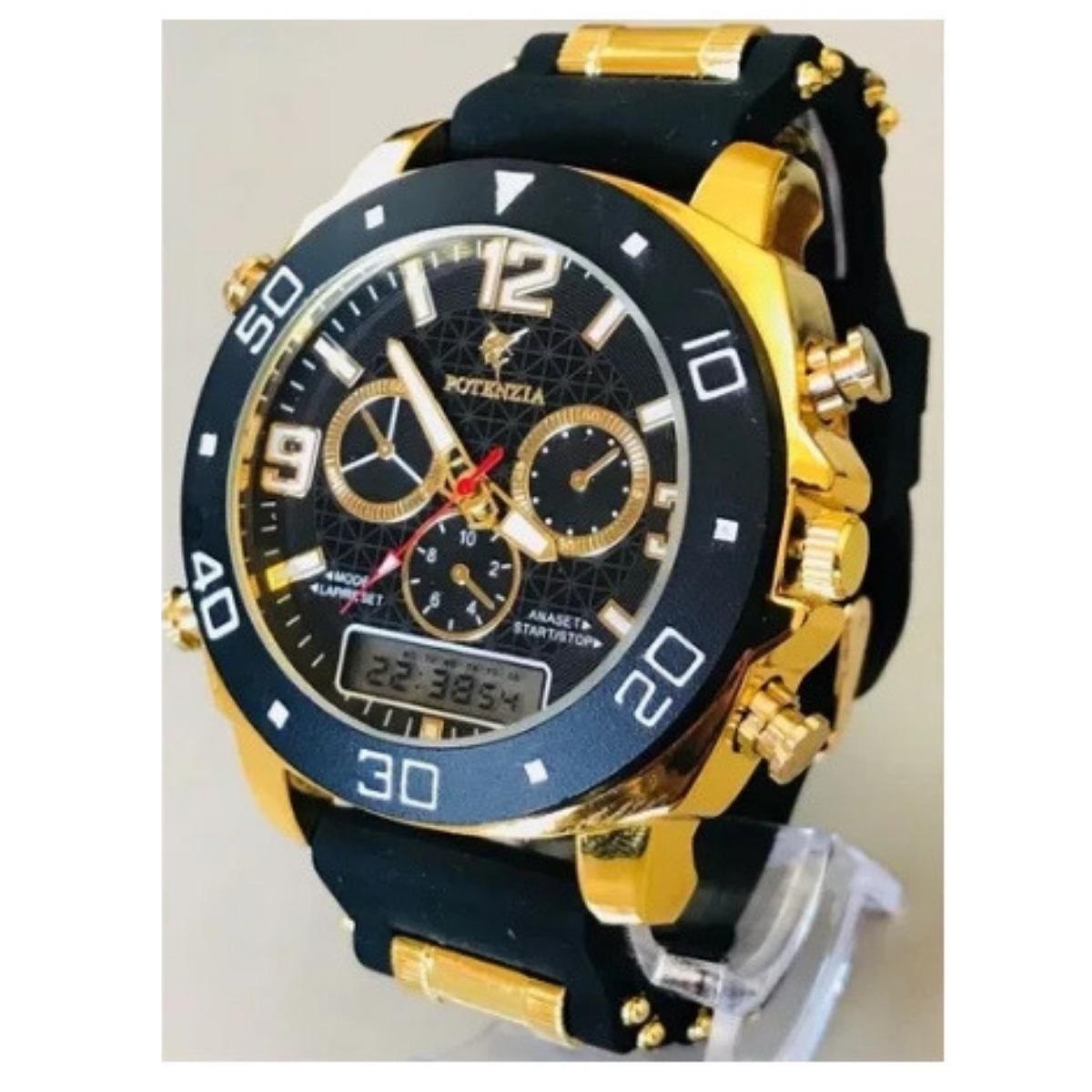 3c8843f346b relógio preto com dourado robusto masculino + frete grátis. Carregando zoom.