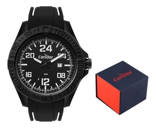 relógio preto condor esport data 24h co2115kxd6p original