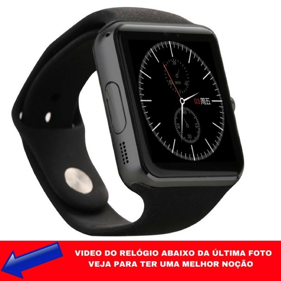 5ca01de4764 relogio preto digital quadrado toque na tela smartwhatch and. Carregando  zoom.