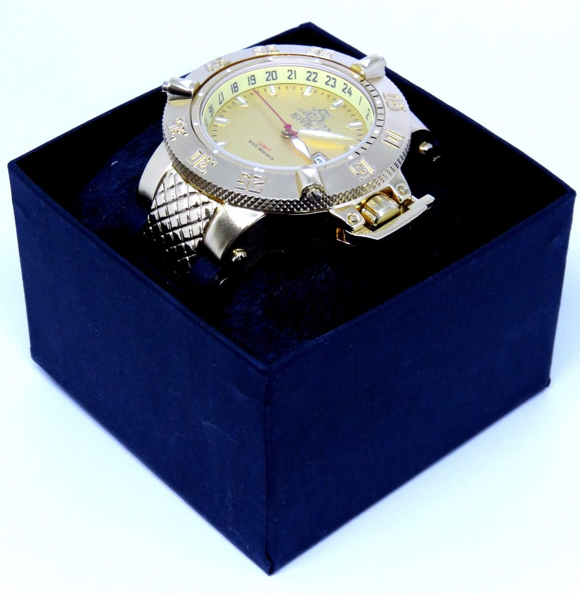 1b705390c21 relógio preto ouro masculino todo funcional + caixa barato! Carregando zoom.