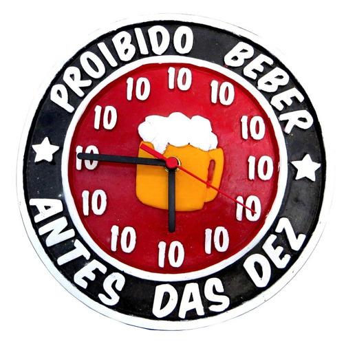 relógio proibido beber antes das dez 10