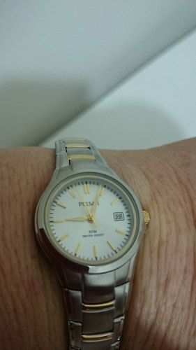 relógio pulsar by seiko resistente água 50 m