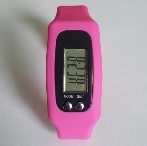 relógio pulseira corrida - marca calorias e passos pedômetro