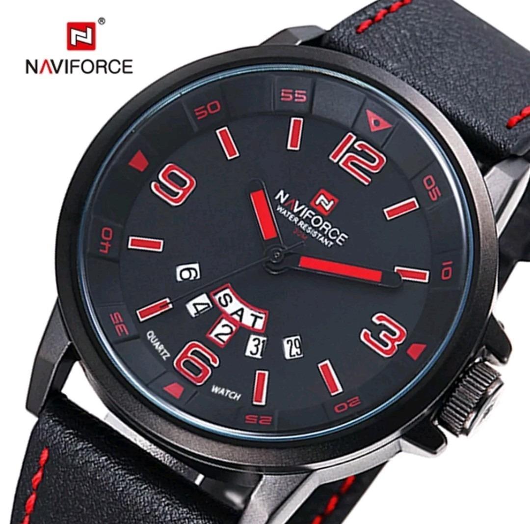 72577d2c169 relógio pulseira couro masculino militar esportivo naviforce. Carregando  zoom.