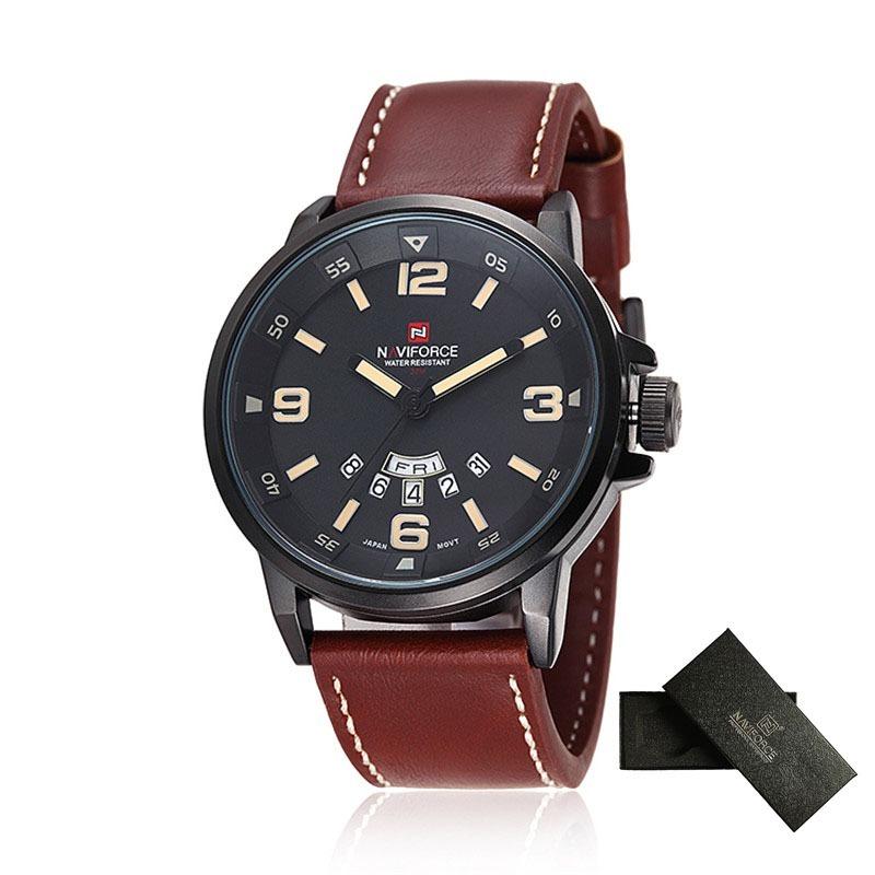 d65f5e7bbe6 relógio pulseira couro masculino naviforce 9028 frete grátis. Carregando  zoom.