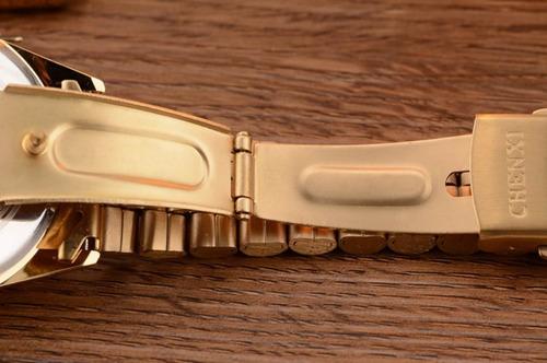 relógio pulseira de aço feminino chenxi cx-004a à prova d'água +brinde chave de ajustes de pulseira