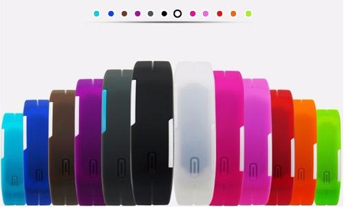 relógio pulseira digital led bracelete -resistente água