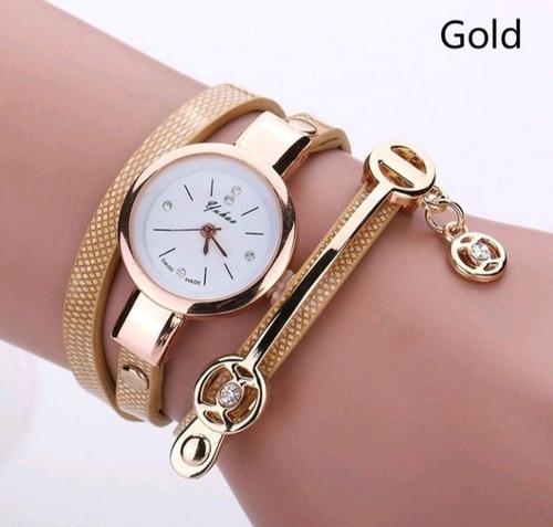 relogio pulseira feminino dourado