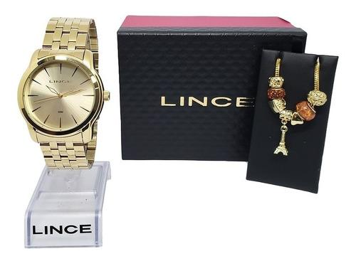 relógio pulseira feminino lince nota fiscal lrg4551l