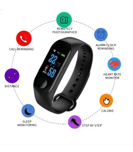 relógio pulseira inteligente pressão arterial band feng - m3