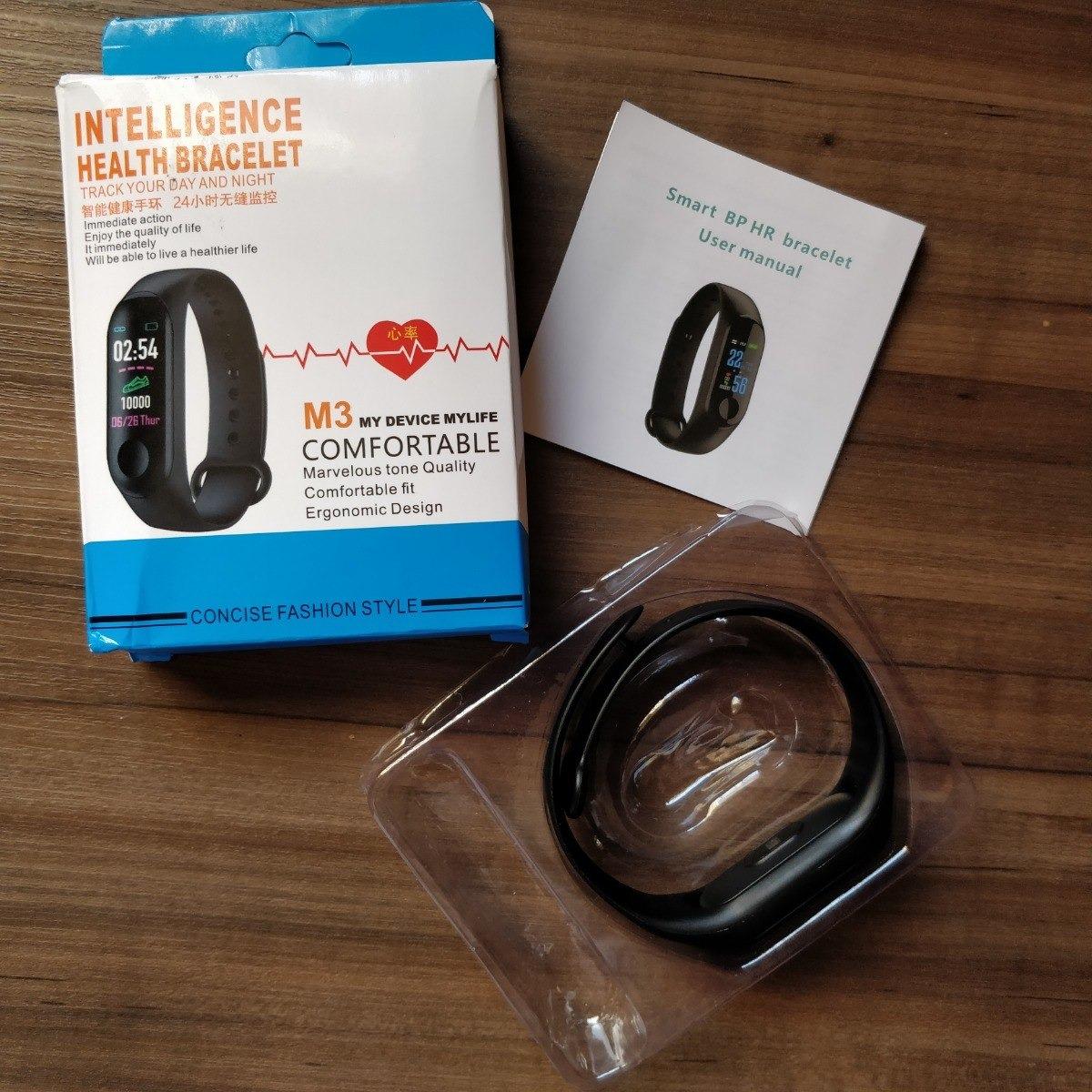 304b819fd96 relógio pulseira inteligente smartband 3 frequência cardíaca. Carregando  zoom.