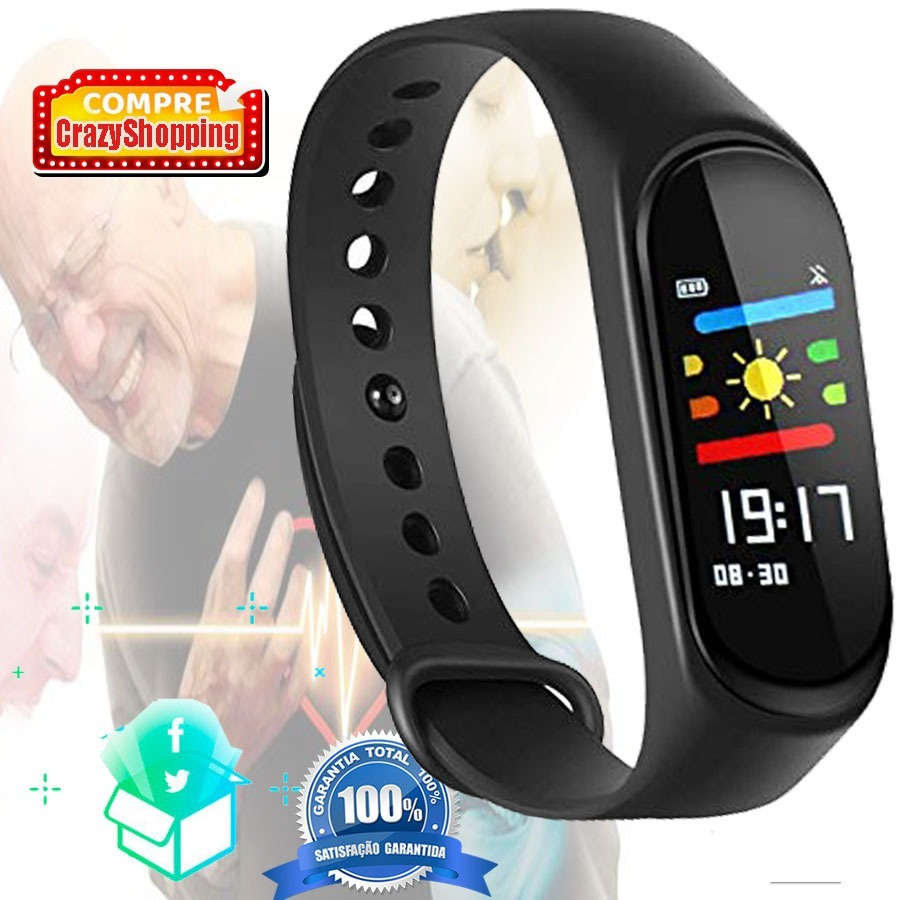 4baabb5fa20 relógio pulseira inteligente smartband m3 plus monitor. Carregando zoom.