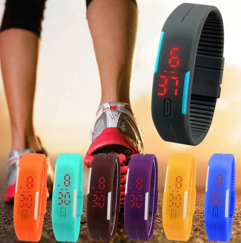 relógio-pulseira led lux sport