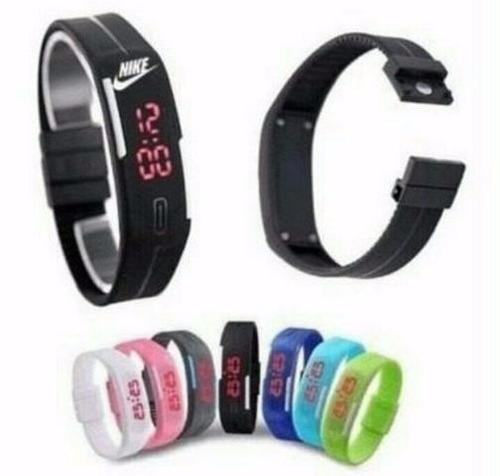 relógio pulseira nike digital led bracelete -resistente água