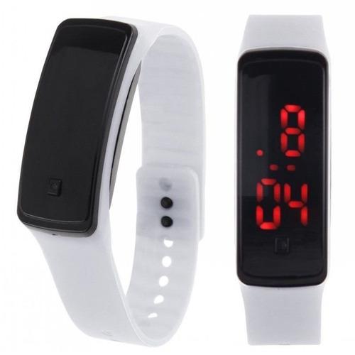 relógio pulseira silicone led digital esportivo