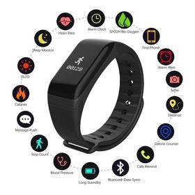 Relógio Pulseira Smartband F1 Monitor Cardíaco Pressao + Km